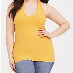 Torrid Yellow Halter Top